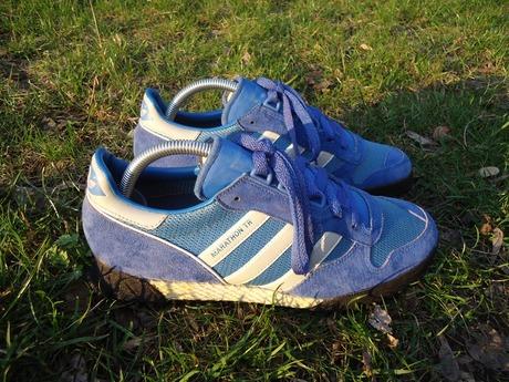 8287d38f Кроссовки Adidas Marathon TR, модель 1986 года. Сделаны в Западной  Германии. Размер US7.5\UK7\длина стельки 26см. Состояние учитывая их  возраст близкое к ...