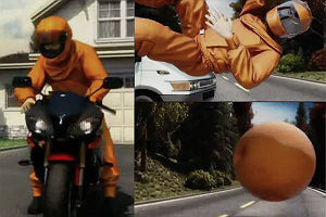 Костюм для мотоциклистов, превращающийся в шар при аварии — Культура на FURFUR
