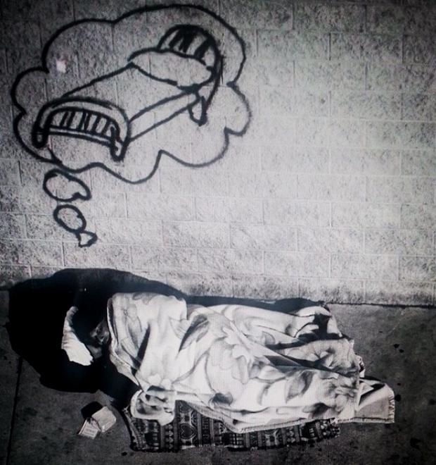 Граффити-художник из Лос-Анджелеса рисует мечты бездомных