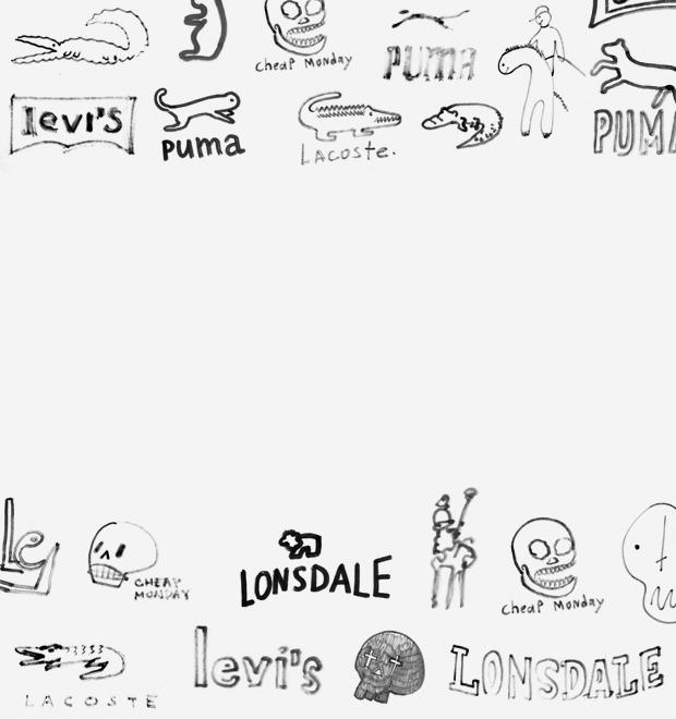 Дизайнеры Look At Media рисуют логотипы марок одежды по памяти — Культура на FURFUR