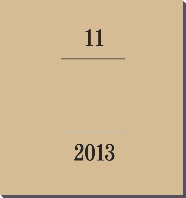 Календарь FURFUR на 2013 год: Ноябрь — Культура на FURFUR