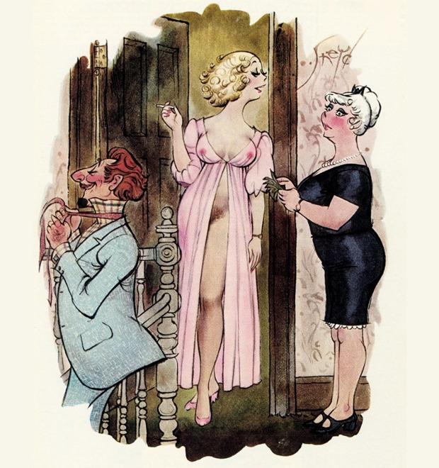 Эротические карикатуры из мужских журналов 1960-х годов