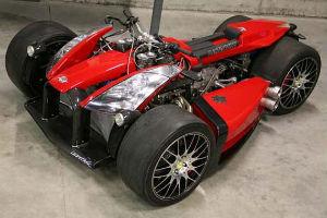 Квадроцикл с мотором Ferrari компании Ludovic Lazareth