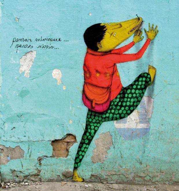 «Мы хотим сломать границу между богатством и бедностью»: Интервью с граффити-командой Os Gemêos — Герои на FURFUR