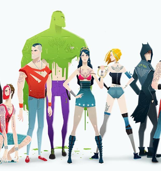 Super Rockers: Супергерои в образах рокеров