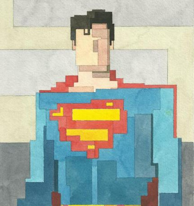 Адам Листер: Иконы поп-культуры в 8-битной живописи