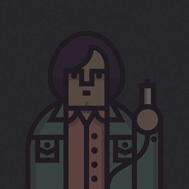Coen Cast: Персонажи фильмов братьев Коэн в иллюстрациях дизайнера Ричарда Переса