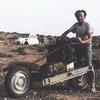 Француз выбрался из пустыни, превратив сломанную машину в мотоцикл