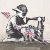 В Лондоне появилась новая работа Бэнкси