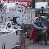 Бэнкси устроил распродажу своих работ в центре Нью-Йорка