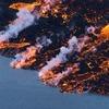 Дрон снял извержение исландского вулкана Бардарбунга