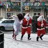 В Нью-Йорке произошла массовая драка Санта-Клаусов
