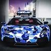 Марка Bape и компания Lamborghini представили совместную модель автомобиля Aventador