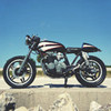 Мотоцикл Honda CB650 мастерской Steel Bent Customs