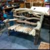 Ручная работа: Скамья из необработанных веток Чары Доу