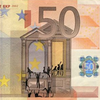 Художник «портит» банкноты евро в знак протеста
