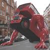 На улицах предолимпийского Лондона появился отжимающийся автобус