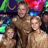 Дэвида Бекхэма и его сыновей «позолотили»