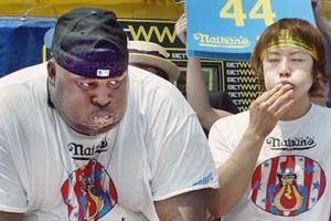 Танец живота: Победители турниров на самое быстрое поедание буррито, хот-догов и лобстеров