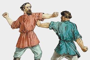 Русские кулачные бои: Главное мужское развлечение Масленицы