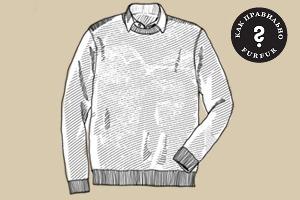 Как правильно носить рубашку под свитером