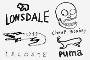 Дизайнеры Look At Media рисуют логотипы марок одежды по памяти