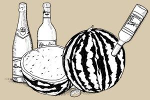 Совет: Как сделать крюшон из арбуза