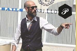 Первый день Pitti Uomo: Прически, усы и бороды посетителей