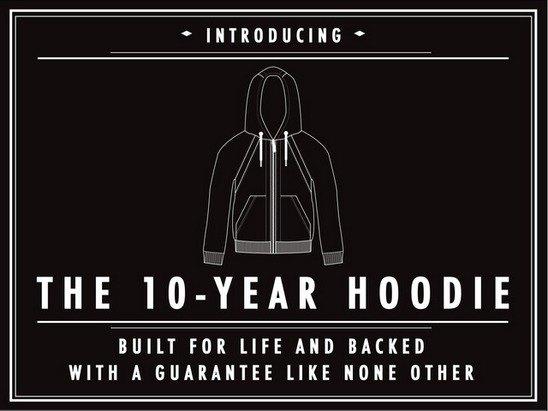 На Kickstarter появился проект «вечной толстовки» 10-Year Hoodie. Изображение № 7.