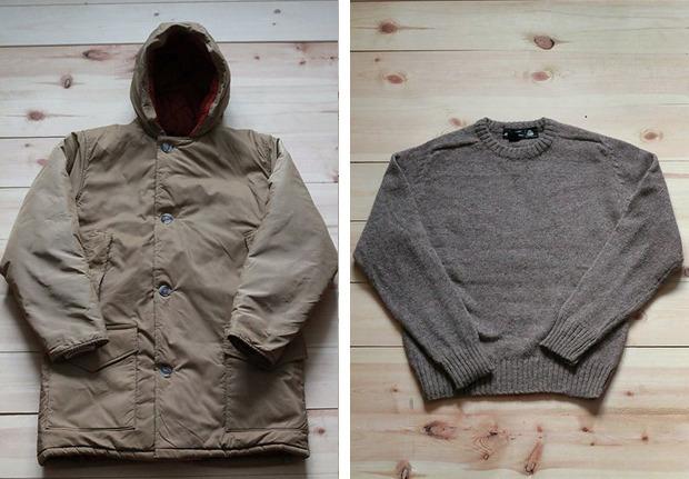 Куртка Woolrich, 5 500 рублей; шерстяной свитер, 1 300 рублей. Изображение № 3.