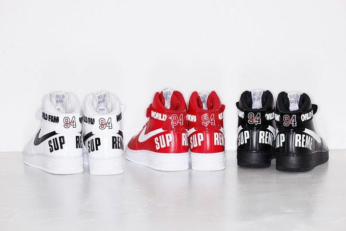 Марки Supreme и Nike выпустили совместную коллекцию кроссовок. Изображение № 7.