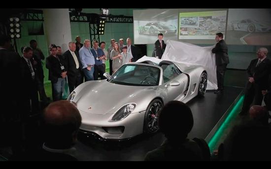 Porsche представили новый гибридный суперкар 918 Spyder . Изображение № 3.
