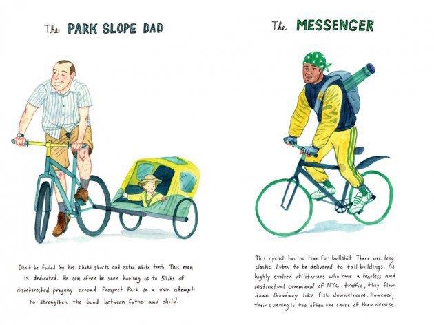 Художник-иллюстратор классифицировал нью-йоркских велосипедистов. Изображение № 3.