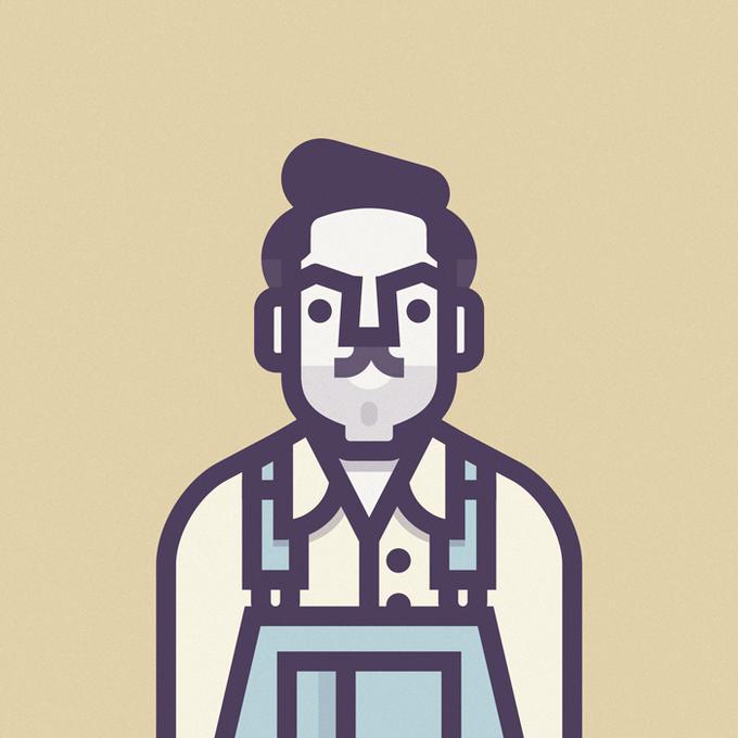 Coen Cast: Персонажи фильмов братьев Коэн в иллюстрациях дизайнера Ричарда Переса. Изображение № 4.