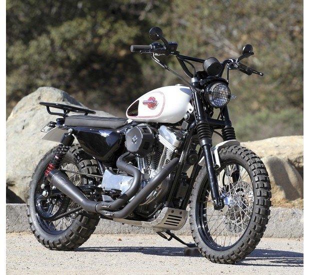 Мастерская Burly Brand представила скрэмблер на основе Harley-Davidson Sportster. Изображение № 1.