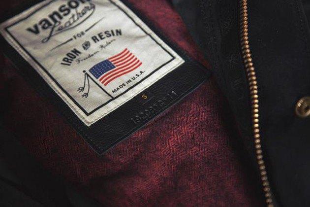 Марка Vanson представила куртку в коллаборации с Iron & Resin. Изображение № 2.