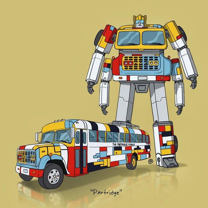 Даррен Роулингс: Если бы машины из культовых фильмов были трансформерами. Изображение № 4.