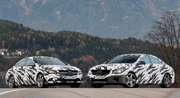 Mercedes показали новый закамуфлированный спортивный седан. Изображение № 12.