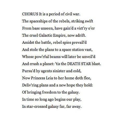 Американский писатель переделал сценарии «Звёздных войн» на манер Шекспира. Изображение № 3.