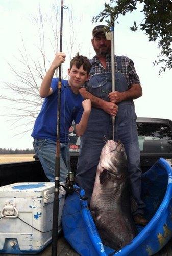 В Луизиане 12-летний мальчик поймал 51-килограммового сома. Изображение № 1.