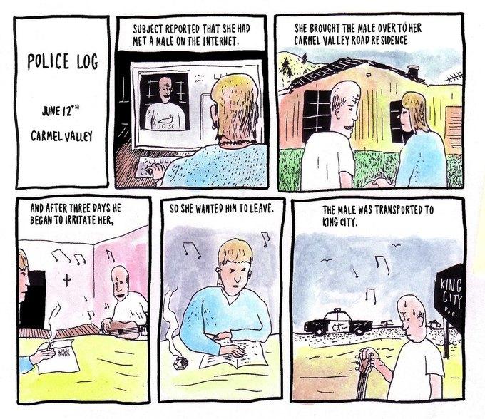 Police Log Comics: Абсурдные полицейские сводки в формате комиксов. Изображение № 27.