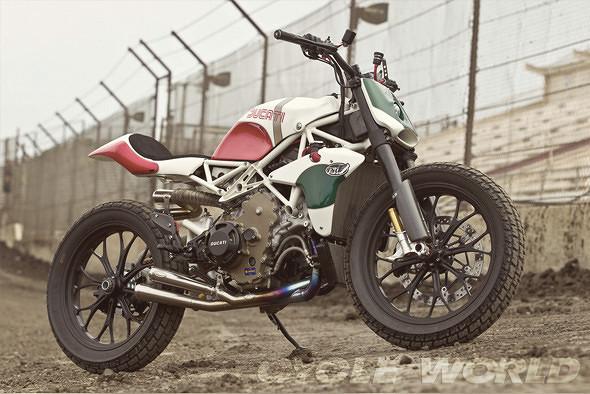 История и особенности мотоциклов для гонок по грязевому овалу —флэт-трекеров. Изображение № 25.