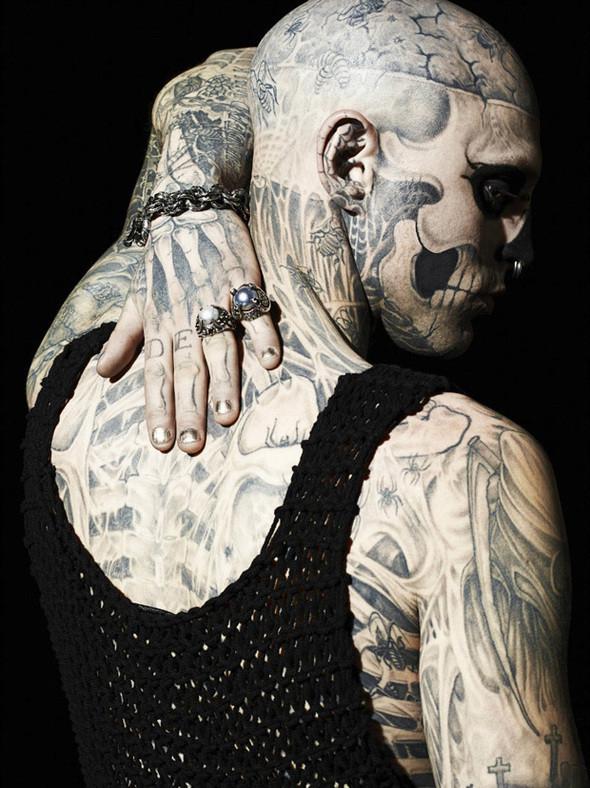Изображение 6. Татуированная модель Рик Дженест снялся для GQ Italia.. Изображение № 6.
