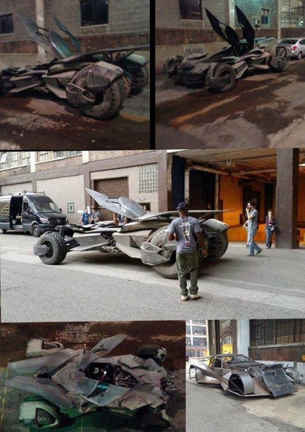 Опубликованы фото нового бэтмобиля из фильма «Бэтмен против Супермена». Изображение № 1.