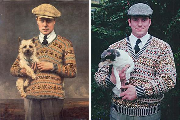 Эдуард VIII, принц Уэльский, в 1921 году. Мужчина в свитере с узором, вдохновленным образом принца.. Изображение № 4.