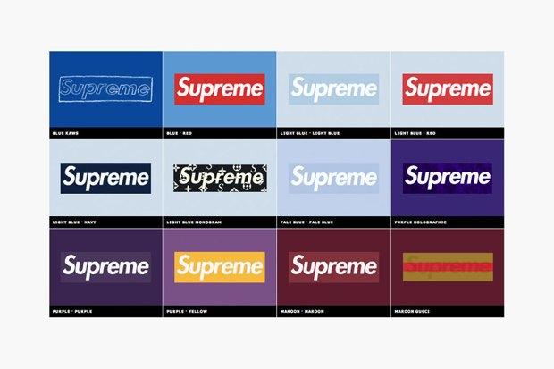 Магазин Kopbox собрал в архив все разновидности логотипа марки Supreme. Изображение № 3.