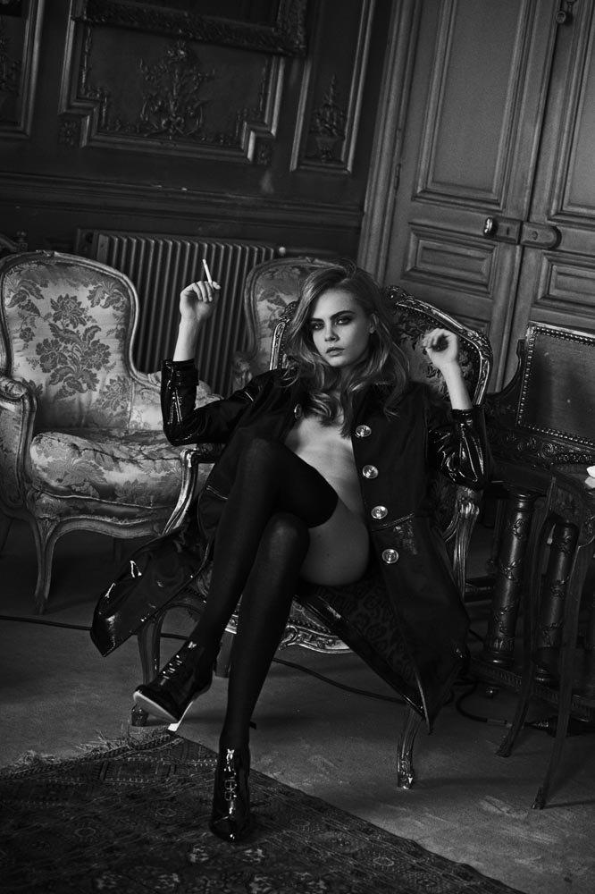 Английская модель Кара Делевинь снялась для журнала Interview. Изображение № 1.