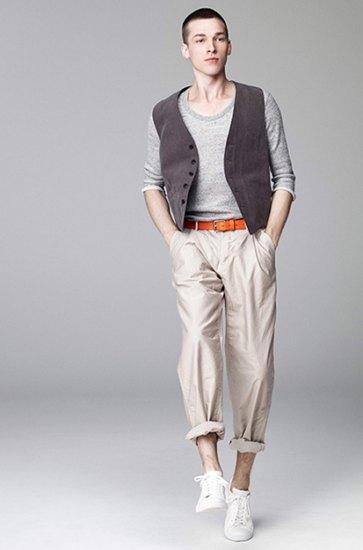 Японская марка Attachment выпустила лукбук весенней коллекции одежды. Изображение № 9.