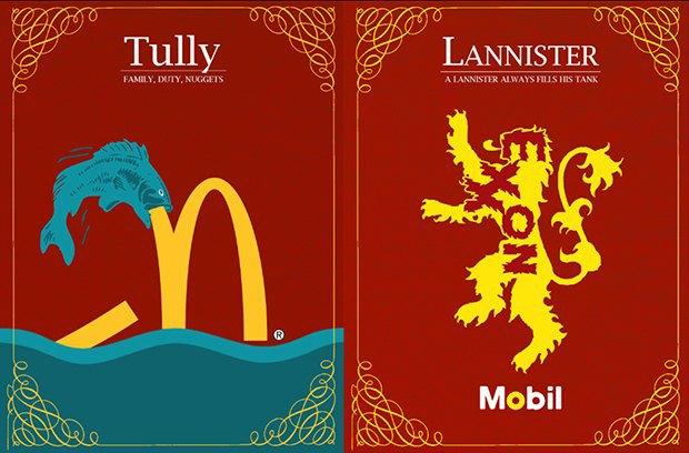 Как выглядели бы логотипы брендов в мире «Игры престолов». Изображение № 10.