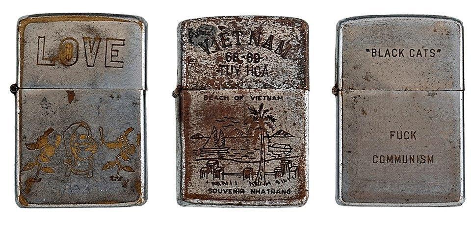 Фотографии коллекции зажигалок Zippo времен войны во Вьетнаме. Изображение № 4.